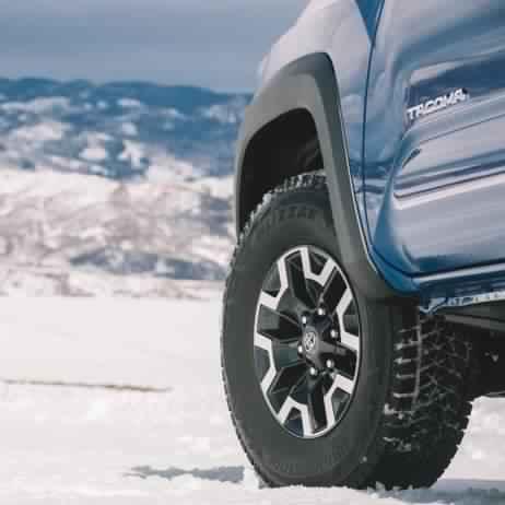 Bridgestone Blizzak WS90 tires on a Toyota Tacoma. Opens a Dialog