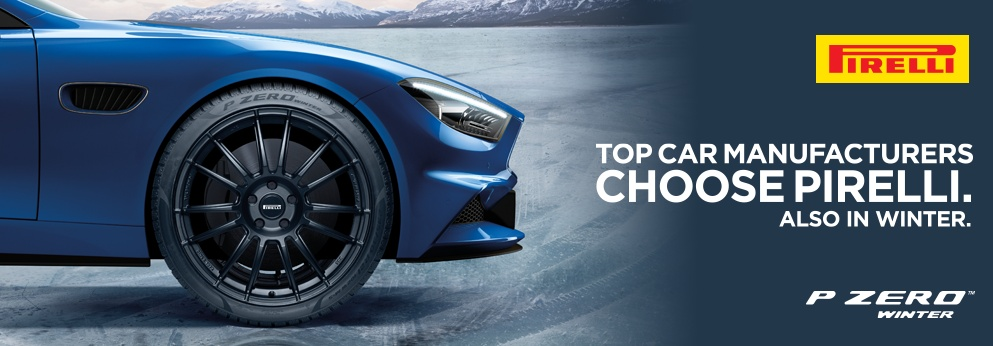 Top Car Manufacturers Choose Pirelli. Also in winter. Opens a Dialog