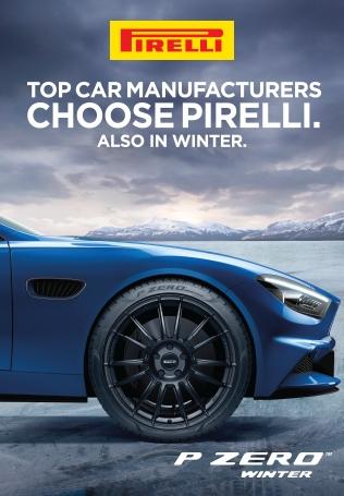 Top Car Manufacturers Choose Pirelli. Also in winter.